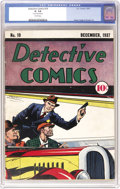 Golden Age (1938-1955):Crime, Detective Comics #10 (DC, 1938) CGC GD- 1.8 Cream pages. One of the reasons early issues of this and other DC titles are so ...