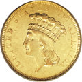 Three Dollar Gold Pieces, 1854-O $3 AU55 PCGS....