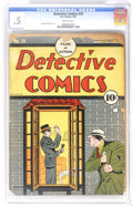 Golden Age (1938-1955):Crime, Detective Comics #25 (DC, 1939) CGC PR 0.5 Brittle pages. Fred Guardineer cover. Overstreet 2006 GD 2.0 value = $412. CGC ce...