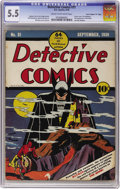 """Golden Age (1938-1955):Superhero, Detective Comics #31 Davis Crippen (""""D"""" Copy) pedigree (DC, 1939) CGC FN- 5.5 Cream to off-white pages. This is the nicest u..."""