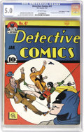 """Golden Age (1938-1955):Superhero, Detective Comics #47 Davis Crippen (""""D"""" Copy) pedigree (DC, 1941) CGC VG/FN 5.0 Off-white pages. This copy of an early Batma..."""