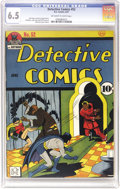 Golden Age (1938-1955):Superhero, Detective Comics #52 (DC, 1941) CGC FN+ 6.5 Off-white to white pages. Bob Kane is credited with this issue's cover, perhaps ...