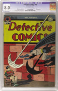 Golden Age (1938-1955):Superhero, Detective Comics #93 (DC, 1944) CGC VF 8.0 Off-white to white pages. This original-owner copy missed out on being the highes...