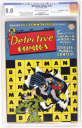 """Golden Age (1938-1955):Superhero, Detective Comics #142 Davis Crippen (""""D"""" Copy) pedigree (DC, 1948) CGC VF 8.0 Cream to off-white pages. This was the Riddler..."""