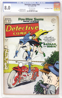 """Detective Comics #161 Davis Crippen (""""D"""" Copy) pedigree (DC, 1950) CGC VF 8.0 Off-white pages. With only three..."""