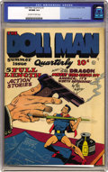 Golden Age (1938-1955):Superhero, Doll Man Quarterly #3 (Quality, 1942) CGC VF/NM 9.0 Off-white towhite pages. Much about the Doll Man reminds us of DC's Sil...
