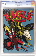 """Golden Age (1938-1955):War, Eagle #1 Davis Crippen (""""D"""" Copy) pedigree (Rural Home, 1945) CGCVF- 7.5 Cream to off-white pages. The masterful L.B. Cole ..."""