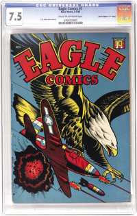 "Eagle #1 Davis Crippen (""D"" Copy) pedigree (Rural Home, 1945) CGC VF- 7.5 Cream to off-white pages. The master..."
