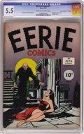 "Golden Age (1938-1955):Horror, Eerie #1 Davis Crippen (""D"" Copy) pedigree (Avon, 1947) CGC FN- 5.5Cream to off-white pages. Whether you call it the first ..."