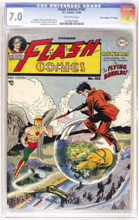 """Flash Comics #102 Davis Crippen (""""D"""" Copy) pedigree (DC, 1948) CGC FN/VF 7.0 Off-white pages. This title's gre..."""