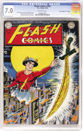 """Golden Age (1938-1955):Superhero, Flash Comics #103 Davis Crippen (""""D"""" Copy) pedigree (DC, 1949) CGC FN/VF 7.0 Off-white pages. """"Scarce"""" is the term used by b..."""