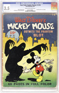 Golden Age (1938-1955):Cartoon Character, Four Color (Series One) #16 Mickey Mouse (Dell, 1941) CGC VG- 3.5 Cream to off-white pages. This is the first Mickey Mouse c...