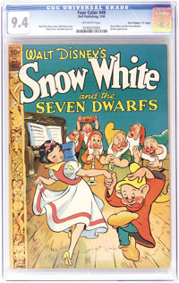 "Four Color #49 Snow White and the Seven Dwarfs - Davis Crippen (""D"" Copy) pedigree (Dell, 1944) CGC NM 9.4 Off..."