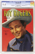 """Golden Age (1938-1955):Western, Four Color #63 Roy Rogers - Davis Crippen (""""D"""" Copy) pedigree(Dell, 1945) CGC VF/NM 9.0 Cream to off-white pages. With fron..."""
