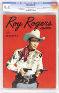 "Golden Age (1938-1955):Western, Four Color #95 Roy Rogers - Davis Crippen (""D"" Copy) pedigree(Dell, 1945) CGC NM 9.4 Off-white to white pages. When you've ..."