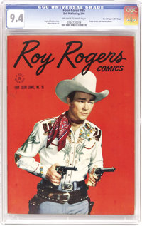 """Four Color #95 Roy Rogers - Davis Crippen (""""D"""" Copy) pedigree (Dell, 1945) CGC NM 9.4 Off-white to white pages..."""