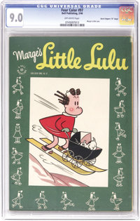 """Four Color #97 Marge's Little Lulu - Davis Crippen (""""D"""" Copy) pedigree (Dell, 1946) CGC VF/NM 9.0 Off-white pa..."""
