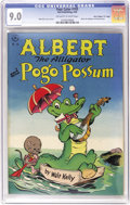 "Golden Age (1938-1955):Funny Animal, Four Color #105 Albert the Alligator and Pogo Possum - DavisCrippen (""D"" Copy) pedigree (Dell, 1946) CGC VF/NM 9.0 Off-white..."
