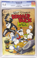 """Golden Age (1938-1955):Cartoon Character, Four Color #159 Donald Duck in """"The Ghost of the Grotto"""" - Davis Crippen (""""D"""" Copy) pedigree (Dell, 1947) CGC VF/NM 9.0 Off-wh..."""