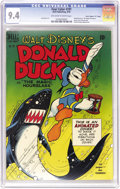 """Golden Age (1938-1955):Cartoon Character, Four Color #291 Donald Duck in """"The Magic Hourglass"""" - Davis Crippen (""""D"""" Copy) pedigree (Dell, 1950) CGC NM 9.4 Off-white to ..."""
