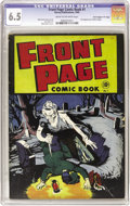 "Golden Age (1938-1955):Horror, Front Page Comic Book #1 Davis Crippen (""D"" Copy) pedigree (Harvey,1945) CGC FN+ 6.5 Cream to off-white pages. Origin and f..."