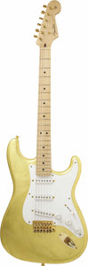 Musical Instruments:Electric Guitars, 2004 Eric Clapton Limited Edition Gold Leaf Fender Stratocaster. In1996 Fender contacted Eric Clapton asking him if he was... (Total:1 Pieces Item)