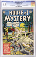 "Golden Age (1938-1955):Horror, House of Mystery #1 Davis Crippen (""D"" Copy) pedigree (DC, 1952)CGC VF+ 8.5 Off-white to white pages. This was DC's first h..."