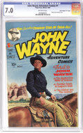 "Golden Age (1938-1955):Western, John Wayne Adventure Comics #1 Davis Crippen (""D"" Copy) pedigree(Toby Publishing, 1949) CGC FN/VF 7.0 Off-white pages. John..."