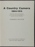 Books:Photography, [Photography]. Gordon Winter. A Country Camera 1844-1914. Gale Research, 1971. Later edition. Publisher's cloth with...