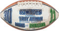 Football Collectibles:Balls, 1996 Troy Aikman Game Used, Signed Presentational Game Footballfrom Divisional Playoff Game Vs. Eagles. ...