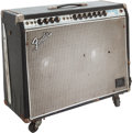 Musical Instruments:Amplifiers, PA, & Effects, 1968 Fender Twin Reverb Black Guitar Amplifier, Serial # A19343....
