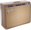 Musical Instruments:Amplifiers, PA, & Effects, 1990 Fender Vibroverb Brown Guitar Amplifier, Serial # AB00276....