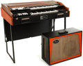 Musical Instruments:Keyboards & Pianos, Circa 1969 Gibson G201 Orange Combo Organ and Amplifier, Serial # 952898. ...