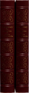 Books:Americana & American History, Alexis de Tocqueville. Democracy in America. Vol. I &II. Easton Press, 1991. Modest shelfwear and one volume wi...(Total: 2 Items)