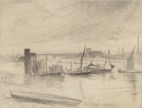 JAMES ABBOTT MCNEILL WHISTLER (American, 1834-1903) Early Morning, Battersea (Kennedy 75), circa 1859