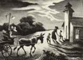 Fine Art - Work on Paper:Print, THOMAS HART BENTON (American, 1889-1975). Prayer Meeting(Wednesday Evening), 1949. Lithograph. 9 x 12-1/4 inches (22.9...