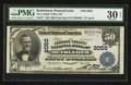 National Bank Notes:Pennsylvania, Bethlehem, PA - $50 1902 Date Back Fr. 671 The Lehigh Valley NB Ch.# 2050. ...