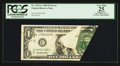 Error Notes:Foldovers, Fr. 1921-C $1 1995 Federal Reserve Note. PCGS Apparent Very Fine25.. ...
