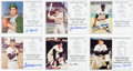 Autographs:Others, 1980's-90's Hall of Famers Signed Induction Cards Lot of 55....