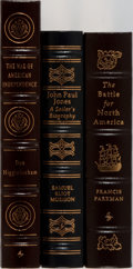 Books:Americana & American History, [American History]. Francis Parkman and Others. Group of ThreeBooks Published by Easton Press. Publisher's leather. Mild sh...(Total: 3 Items)