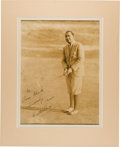Autographs:Photos, Circa 1930 Walter Hagen Signed Oversized Photograph....