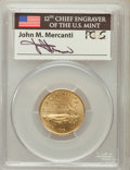 Modern Issues, 1995-W G$5 Olympic/Stadium Gold Five Dollar MS70 PCGS. Ex:Signature of John M. Mercanti, 12th Chief Engraver of the U.S. M...