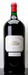 Red Bordeaux, Chateau Margaux 1983 . Margaux. lbsl, wrl, spc, ssos. Imperial (1). ... (Total: 1 Imp. )