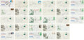 Golf Collectibles:Autographs, 1980's-90's Golf Stars Signed First Day Covers Lot of 28....