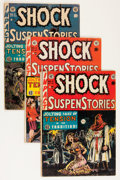 Golden Age (1938-1955):Horror, Shock SuspenStories Group (EC, 1952-53) Condition: GD.... (Total: 4Comic Books)
