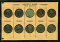 Ancients:Ancient Lots  , Ancients: ROMAN EMPIRE. Lot of ten (10) first and secondbronzes.... (Total: 10 coins)