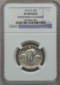 Standing Liberty Quarters: , 1919-S 25C -- Improperly Cleaned -- NGC Details. XF. NGC Census:(27/249). PCGS Population (54/374). Mintage: 1,836,000. Nu...