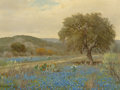Texas:Early Texas Art - Regionalists, PORFIRIO SALINAS (American, 1910-1973). Bluebonnets, 1960.Oil on canvas. 13 x 17 inches (33.0 x 43.2 cm). Signed and da...