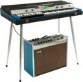 Musical Instruments:Keyboards & Pianos, Circa 1969 Howard/Baldwin Deluxe Black/Blue Keyboard and Amplifier, Serial # 01136. ...