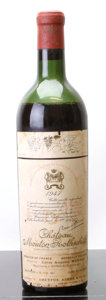 Red Bordeaux, Chateau Mouton Rothschild 1947 . Pauillac. ms, hbsl, nl, lcc. Bottle (1). ... (Total: 1 Btl. )